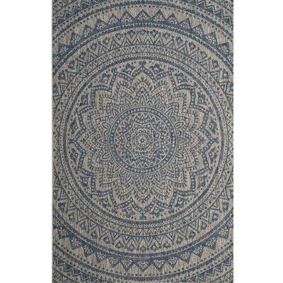 Amedee Gray/Blue Indoor/Outdoor Area Rug Rug Size: 2' x 3'7