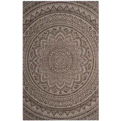 Amedee Light Beige/Terracotta Indoor/Outdoor Area Rug Rug Size: 2' x 3'7
