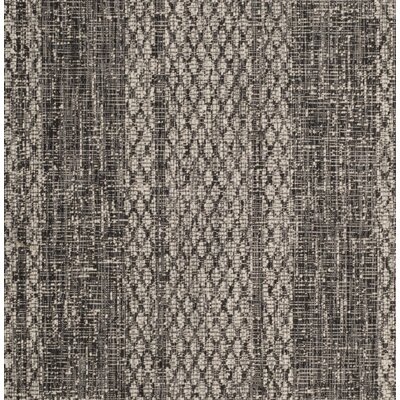 Myers Striped Gray/Black Indoor/Outdoor Area Rug Rug Size: Rectangle 2'7