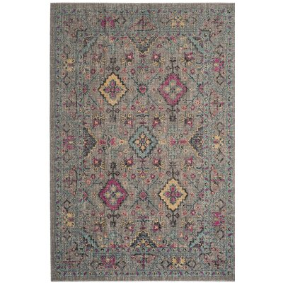 Bunn Gray/Blue Area Rug Rug Size: Rectangle 4 x 6