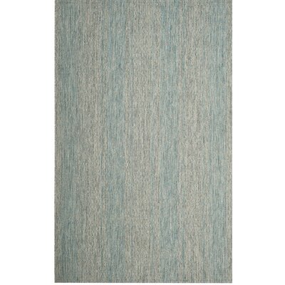 Myers Abstract Gray/Aqua Indoor/Outdoor Area Rug Rug Size: 53 x 77