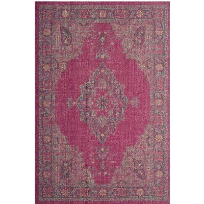 Bunn Fuchsia/Navy Area Rug Rug Size: Rectangle 4' x 6'