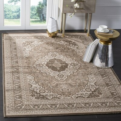 Vishnu Beige/ Light Brown Area Rug Rug Size: Rectangle 4 x 57