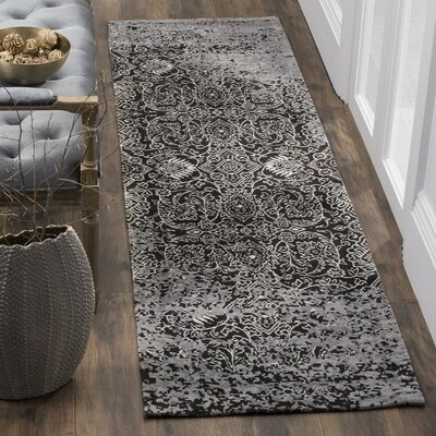 Maissa Silver/Brown Area Rug Rug Size: Runner 23 x 8