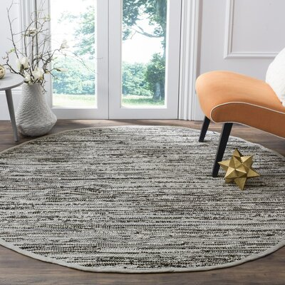 Coffey Hand-Woven Gray Area Rug Rug Size: Rectangle 5 x 8