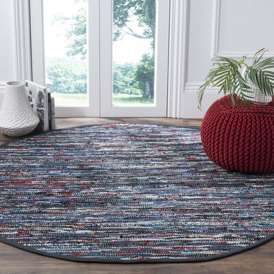 Saleh Hand-Woven Area Rug Rug Size: Round 6'