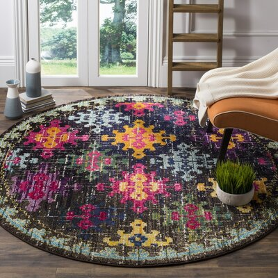 Crosier Green/Pink Area Rug Rug Size: 67 x 92