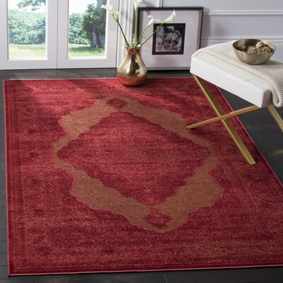Goshen Dark Pink Area Rug Rug Size: Rectangle 53 x 76