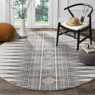 Elson Ivory/Gray Area Rug Rug Size: 10 x 14