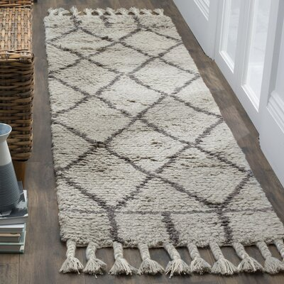 Livingston Hand-Tufted Gray Area Rug Rug Size: Runner 23 x 8
