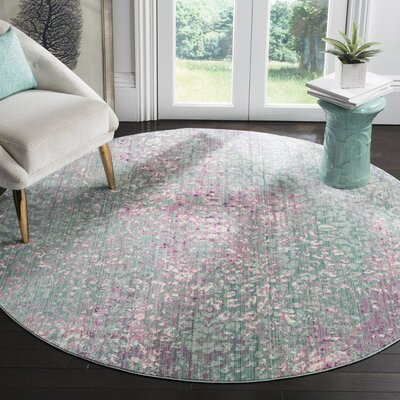 Lulu Blue Area Rug Rug Size: Rectangle 4 x 6