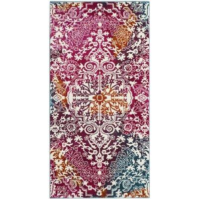 Shaurya Beige/Pink Area Rug Rug Size: 8 x 10