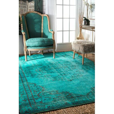 Xavier Turquoise Area Rug Rug Size: 5'5