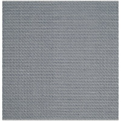 Dormody Hand-Woven Cotton Ivory/Navy Blue Area Rug Rug Size: Square 6