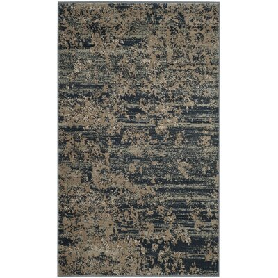 Makenna Gray & Ivory Area Rug Rug Size: Rectangle 3 x 5