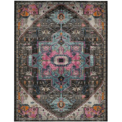 Bunn Light Gray/Blue/Pink Area Rug Rug Size: Rectangle 9 x 12