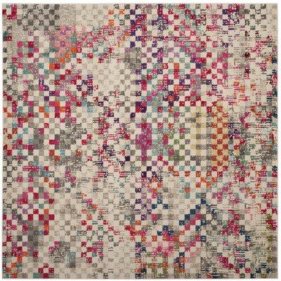 Elston Grey/Multi Area Rug Rug Size: Square 67