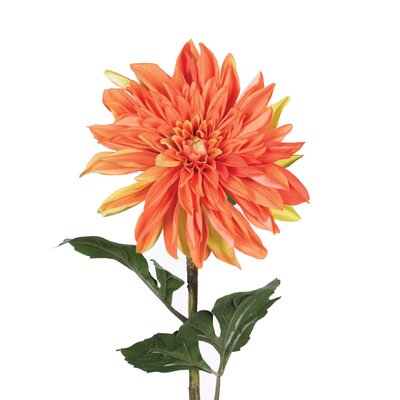 Artificial Dahlia Stem Flower Color: Orange