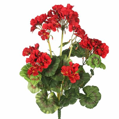 Artificial Geranium Flowers Flower Color: Red