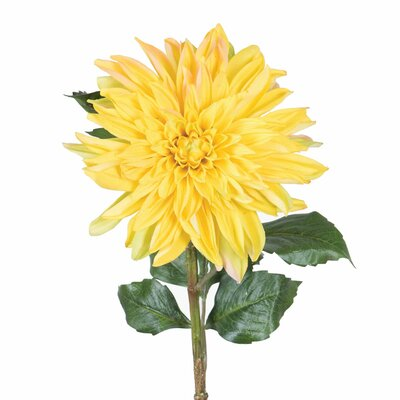 Artificial Dahlia Stem Flower Color: Yellow