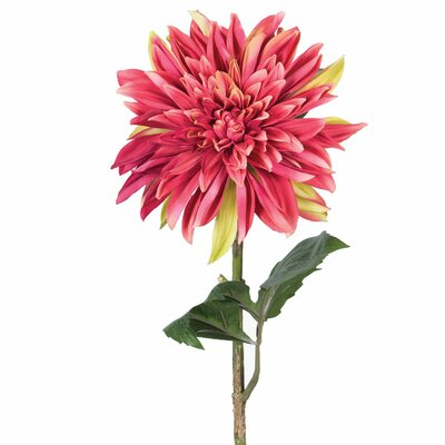 Artificial Dahlia Stem Flower Color: Crimson