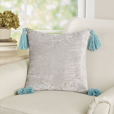 Glyndon Metallic Throw Pillow