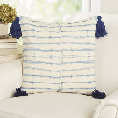 Koutio Tassels Batik Stripe Throw Pillow