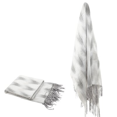 Elizabella Space Dyed Fringed Throw Color: Gray