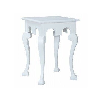 Tulare End Table Color: White