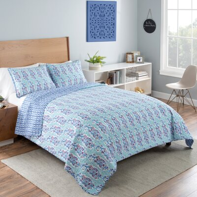 Draven Reversible Comforter Set Size: Full/Queen