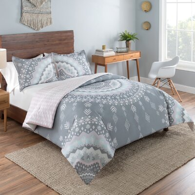 Patrick Reversible Comforter Set Size: King