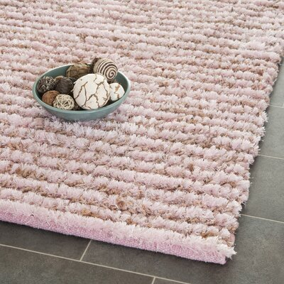 Messiah Pink Area Rug Rug Size: 8 x 10