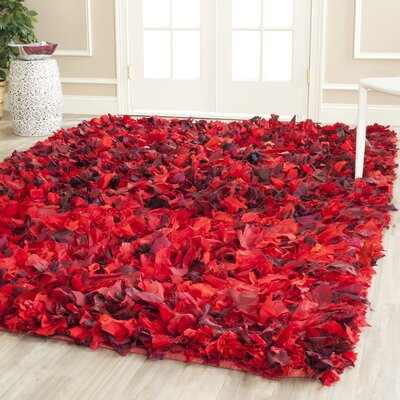 Messiah Red Shag Rug Rug Size: 6 x 9