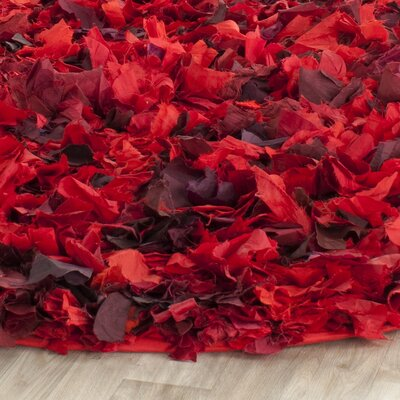 Messiah Red Shag Rug Rug Size: Round 4