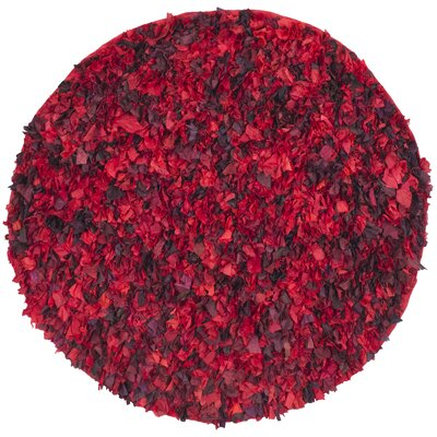 Messiah Red Shag Rug Rug Size: Round 6