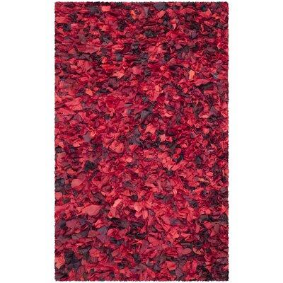 Messiah Red Shag Rug Rug Size: 4 x 6