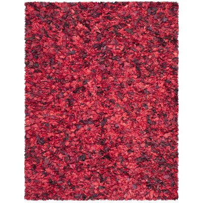Messiah Red Shag Rug Rug Size: 8 x 10
