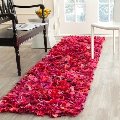 Messiah Fuchsia Shag Area Rug Rug Size: Runner 2'3