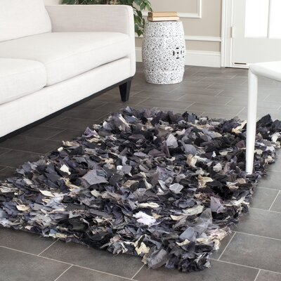 Messiah Black & Gray Area Rug Rug Size: Square 8