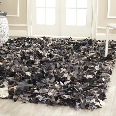 Messiah Black & Gray Area Rug Rug Size: 6 x 9