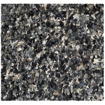Messiah Black & Gray Area Rug Rug Size: Square 6