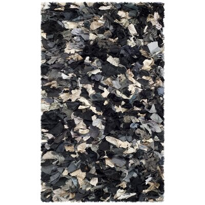 Messiah Hand-Tufted Gray/Brown/Black Area Rug Rug Size: Rectangle 26 x 4