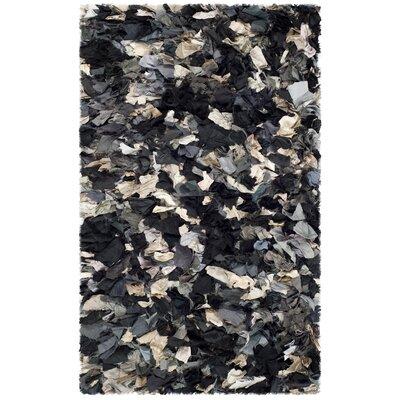 Messiah Black & Gray Area Rug Rug Size: 26 x 4