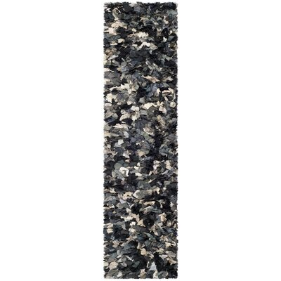 Messiah Hand-Tufted Gray/Brown/Black Area Rug Rug Size: Runner 23 x 6