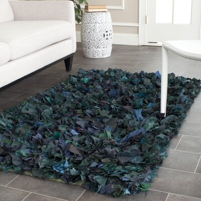 Messiah Green Shag Area Rug Rug Size: Rectangle 26 x 4