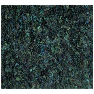 Messiah Green Shag Area Rug Rug Size: Square 6