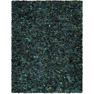 Messiah Green Shag Area Rug Rug Size: 8 x 10