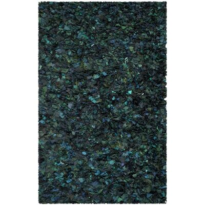 Messiah Green Shag Area Rug Rug Size: 6 x 9