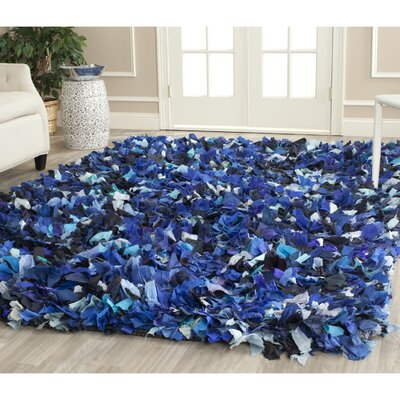 Messiah Blue & Black Area Rug Rug Size: Square 8