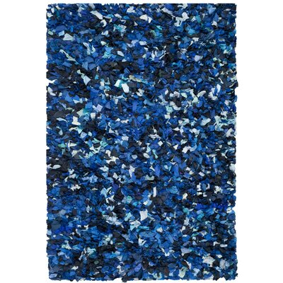 Messiah Blue & Black Area Rug Rug Size: 6 x 9